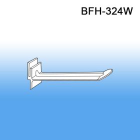 "4"" White Butterfly Power Panel Display Plastic Hooks, BFH-324W"