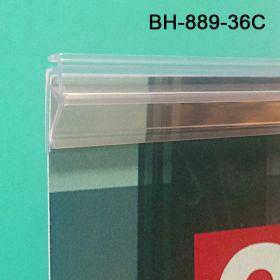 "Clear 36"" Grip-Tite Banner Hanger, BH-889-36"