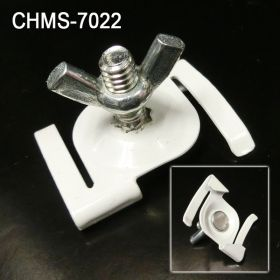 Secure Metal Twist Ceiling Loop - Drop Ceiling  Hanging Accessories, Threaded Stud and Wing Nut, CHM-7022