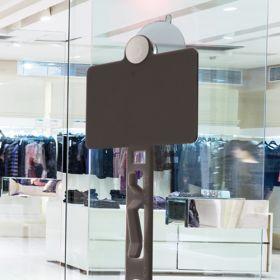 Black Clip Strip® Merchandising Strip, w/ Suction Cups/Header, CS-6SCHDBK
