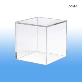 "display cube, product merchandising, 6"" square, DCM-6"