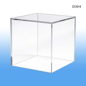 "display cube, product merchandising, 8"" square, DCM-8"