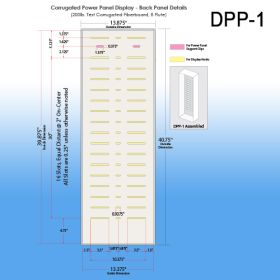 Stock Corrugated Power Panel Tray Dimensions, DPP-1