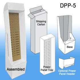 Kit Includes Power Panel Tray, Floor Base and Shipping Carton, Optional Header, DPP-5