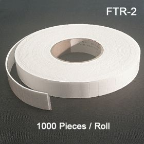 1000 Pieces per Roll. Double Faced Permanent Adhesive Rolls - Display Accessories, FTR-2