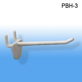 "ABS plastic heavy duty peg hooks and slatwall display hook, 3"", PBH-3"
