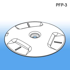 pfp-3, wood pallet floor protector, pop display, pallet feet, glides, skid foot