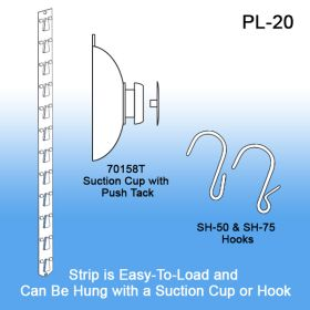 PL-20 is Easy to Hang with Suctions Cup or Hook