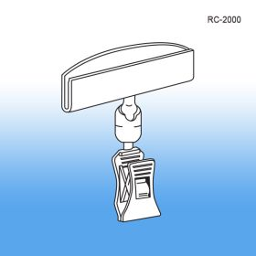 clear plastic swiveling clip sign holder, rc-2000