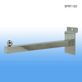 "chrome metal 12"" slatwall display, SFRT-12C"