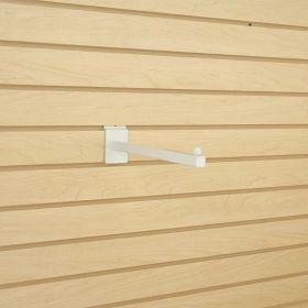 "White 12"" Long Slatwall Faceout with Square Tubing, SFRT-12W"