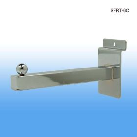 "6"" Long Slatwall Faceout with Rectangular Tubing, SFRT-6C"