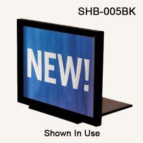 Black flat shovel base for sign frame, SHB-005BK
