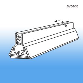 white pvc swivel gripper sign holder, SVGT-36