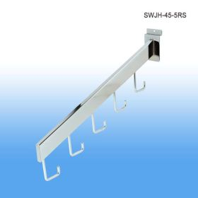 chrome 5 hook waterfall slatwall display, SWJH-45-5RC