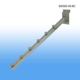 chrome metal slatwall waterfall, SWWD-45-6C