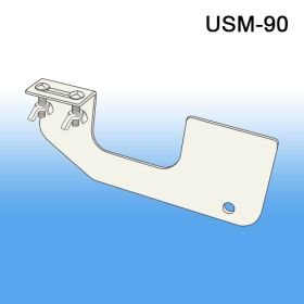 clip strip merchandiser under the shelf mount white hanger, USM-90