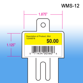 Walmart approved impulse strip, wms-12, flat die cut version with header