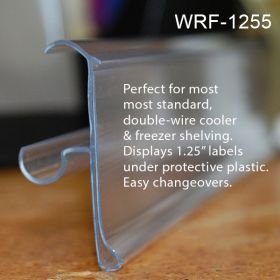 snap on pricing channel for freezer shelves, WRF-1255