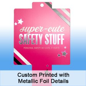 Custom Printed with Metallic Foil Details, Merchandising Strip, 12 Stations, Easy to Load, Item# CPCS-15-425425