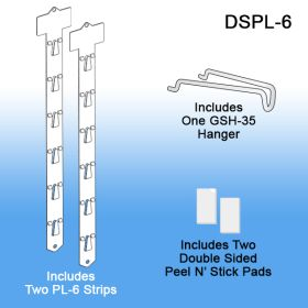 Double sided plastic clip strip, DSPL-6