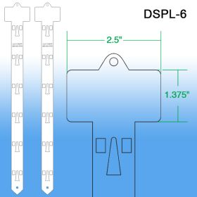 Double sided plastic Clip Strips, Includes Hanger, DSPL-6