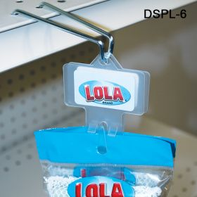 Double sided plastic Clip Strips, Can be removed and used over and over. Includes Hanger, DSPL-6