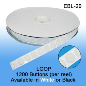 "Loop Fastener Buttons, 3/4"" diameter, EBL-20"