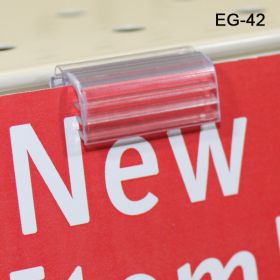 Easy to use Grip-Tite™ Data-Talker Hinged Flush Sign Holder, EG-42