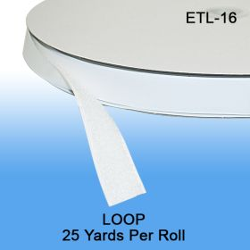 "25 Yards per Roll. Loop Fastener Tape, 5/8"" wide, ETL-16"