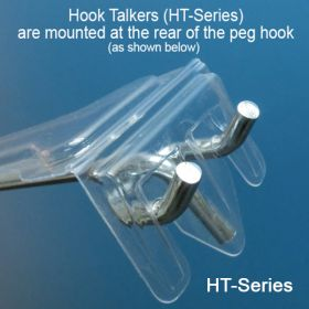 "Label holder overlay for 4-5"" peg hook, HT-45"