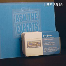 Flat Peel & Stick Literature Holder, Business Cards, Item# LBF-3515