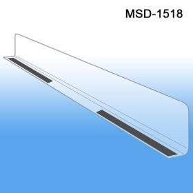 """1"""" x 17-9/16"""" Econo-Line Shelf Divider, MSD-1518, Magnetic Mount"""