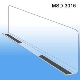 """3"""" x 15-9/16"""" Econo-Line Shelf Divider, Magnetic Mount, MSD-3016"""