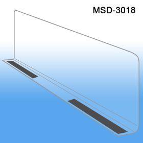 """3"""" x 17-9/16"""" Econo-Line Shelf Divider, Magnetic Mount, MSD-3018"""