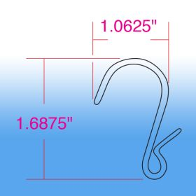 Clip Strip S-Hook, Pinched, SH-75