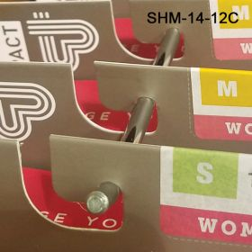 """12"""" metal slat wall display hooks, are available in Chrome, White and Black, SHM-14-12C"""