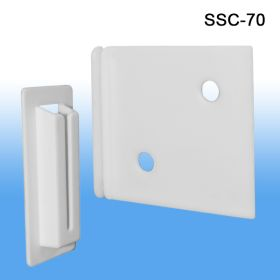 Strong corrugated display shelf support clip, SSC-70, 2.375""