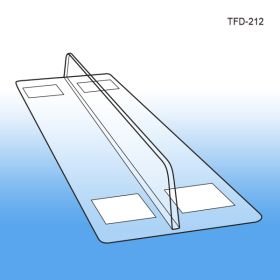 """Shelf Divider, 1"""" x 12"""" Thermo-Formed, Adhesive Mounting, TFD-212"""