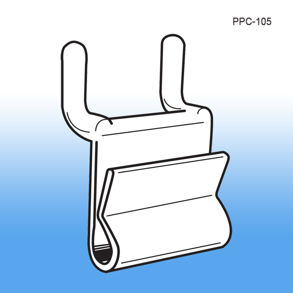 power wing clip for pegboard slatwall corrugated display metal