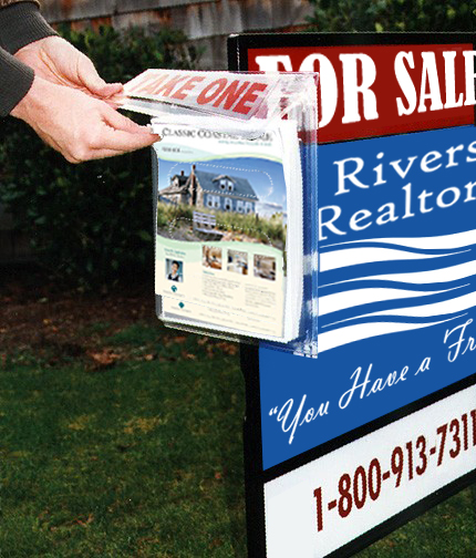 Outdoor literature holders real estate sign brochures - Outdoor brochure holders for exterior use ...