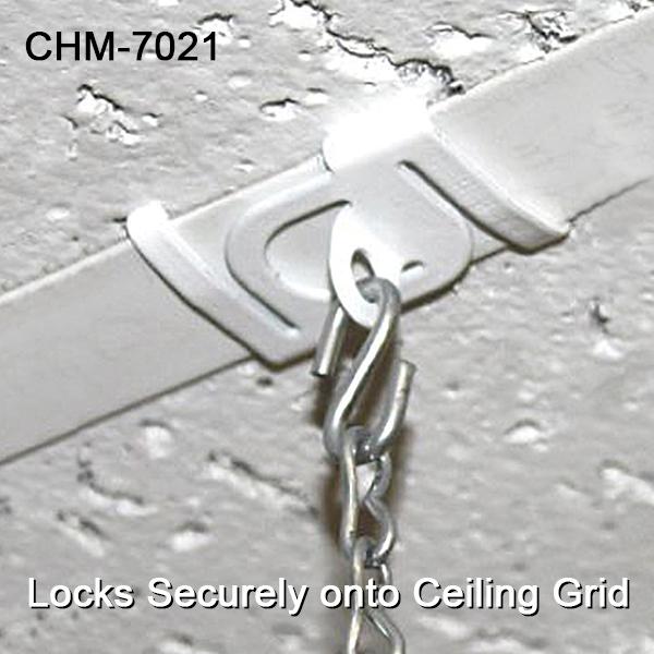 Secure Metal Twist Ceiling Loop Ceiling Signage Sign Holders