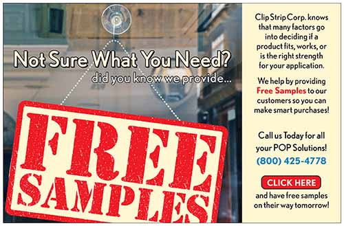 clip strip gives free samples
