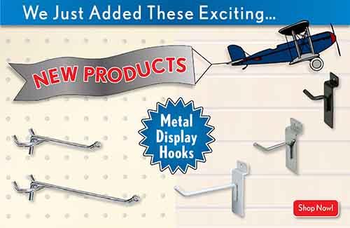 metal slatwall hooks | pegboard display hooks | metal retail dsiplay hooks
