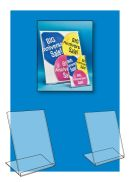 Affordable Slanted Style Easel Sign Holders, Clip Strip Corp.
