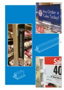 Card Countertop Sign Holders, Gripper teeth, Clip Strip Corp.