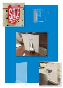 Flat Surface Sign Display Holders | Clip Strip