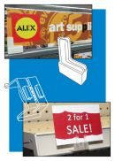 Gondola Metal Display Sign Holders | Price Channel | Shelf Perforations | Retail Store Fixture Signage Hardware