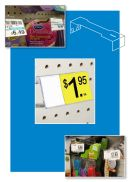 UPC Label Holders for display hooks, clip strip corp.