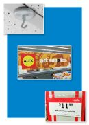 Magnetic sign holders and Signage hardware for metal retail store or warehouse upright racking
